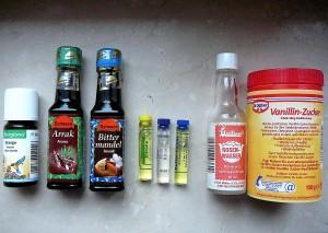 Aromen Flaschen