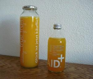 Bedruckte Mehrwegglasflasche