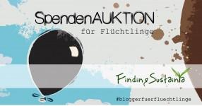 Flüchtlingsauktion_Luftballons_Poster