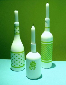 Flaschen weis grün 2