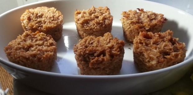 Muffins aus Reisresten