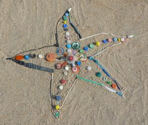 Plastik Seestern