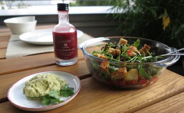 veganes Abendessen, Brotsalat